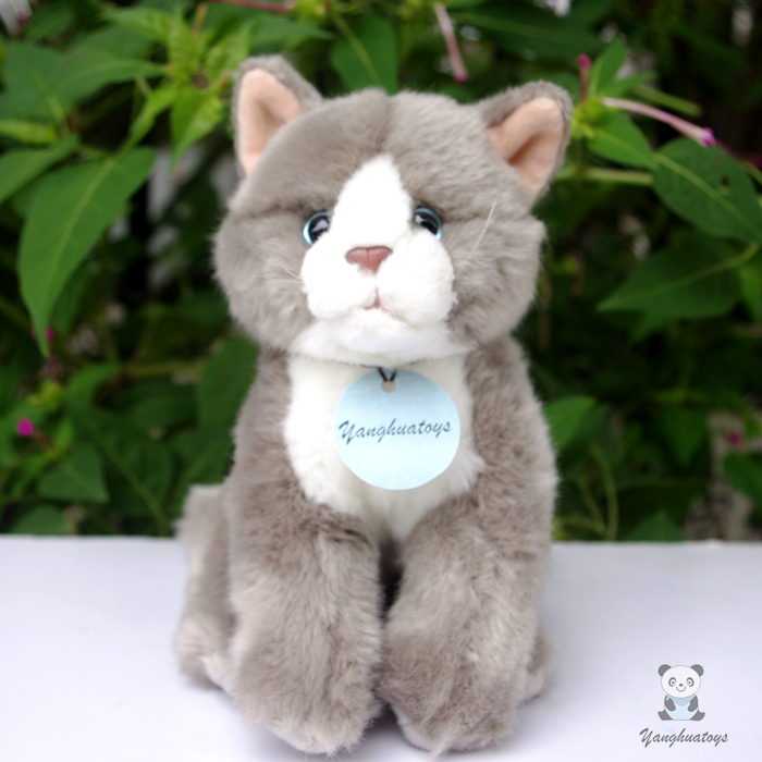 Simulation  plush  toy  cats stuffed animals doll kids Toys   Gifts good quality gray cat cute siamese cat plush doll toys simulation stuffed animal kids toys cats dolls gifts female