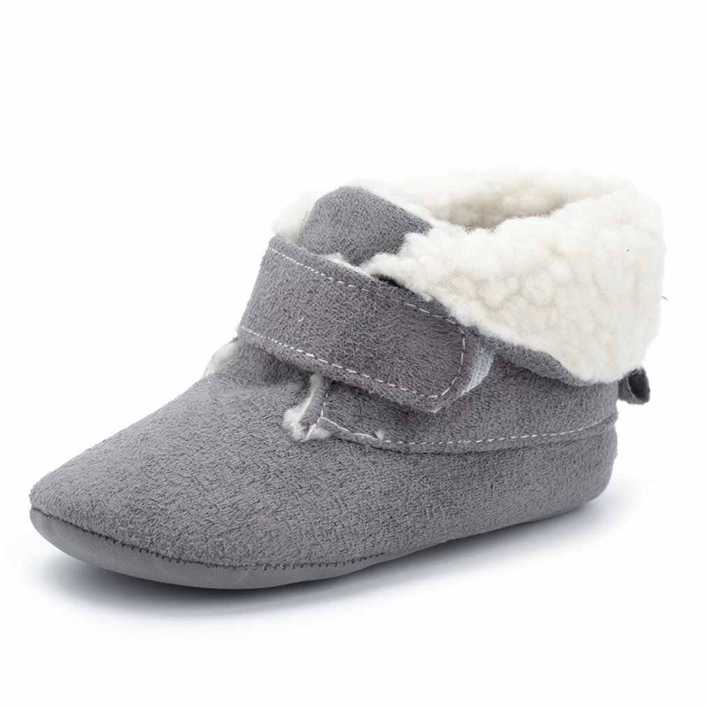 ... OUTAD 2018 new baby shoes velvet warm soft bottom 0-1 years old baby  cotton ... 58e2104635e3