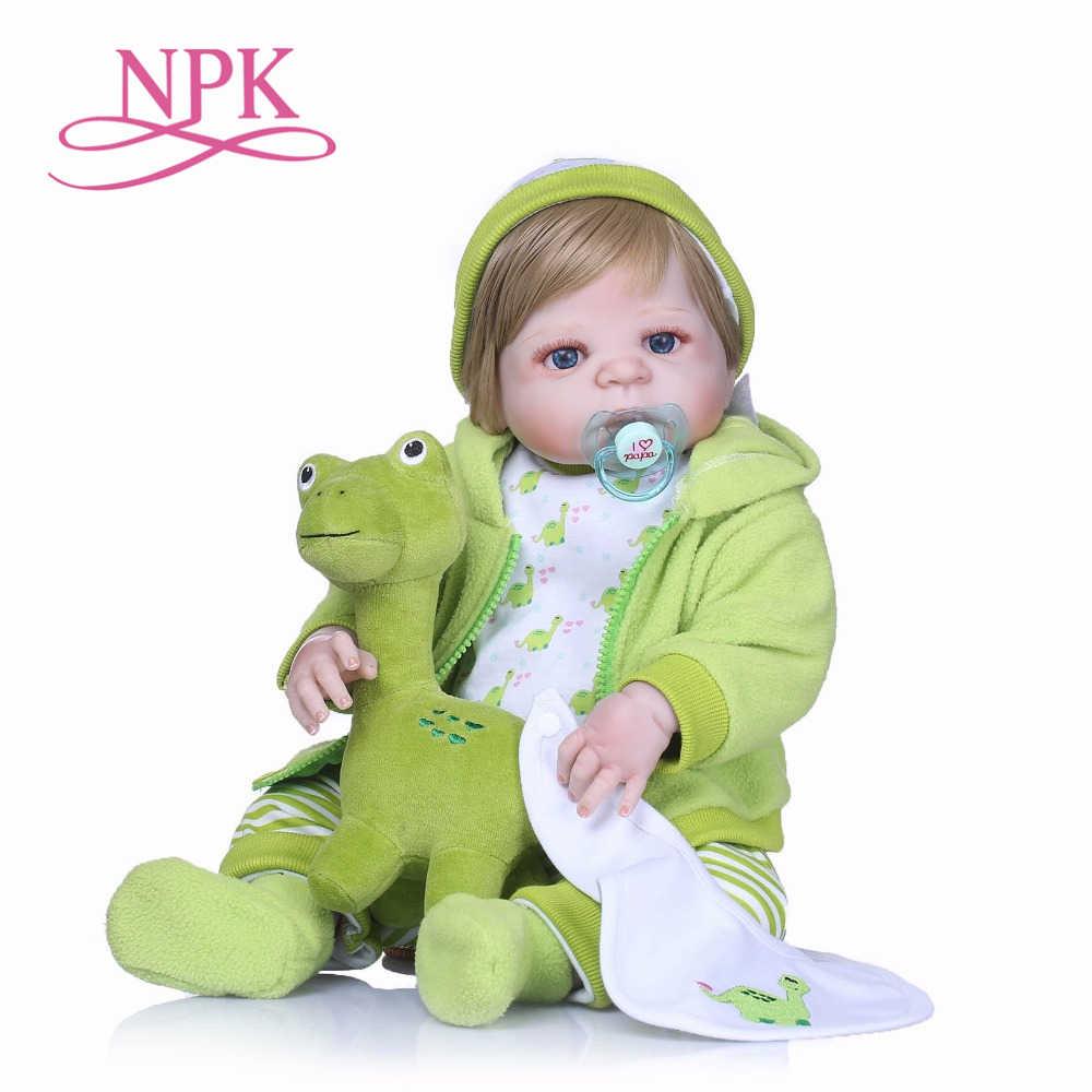 NPK Nicery 22 дюймов 55 см Bebes Кукла реборн Жесткий Силиконовый мальчик девочка игрушка Reborn Baby Doll подарок для детская кукла, ребенок
