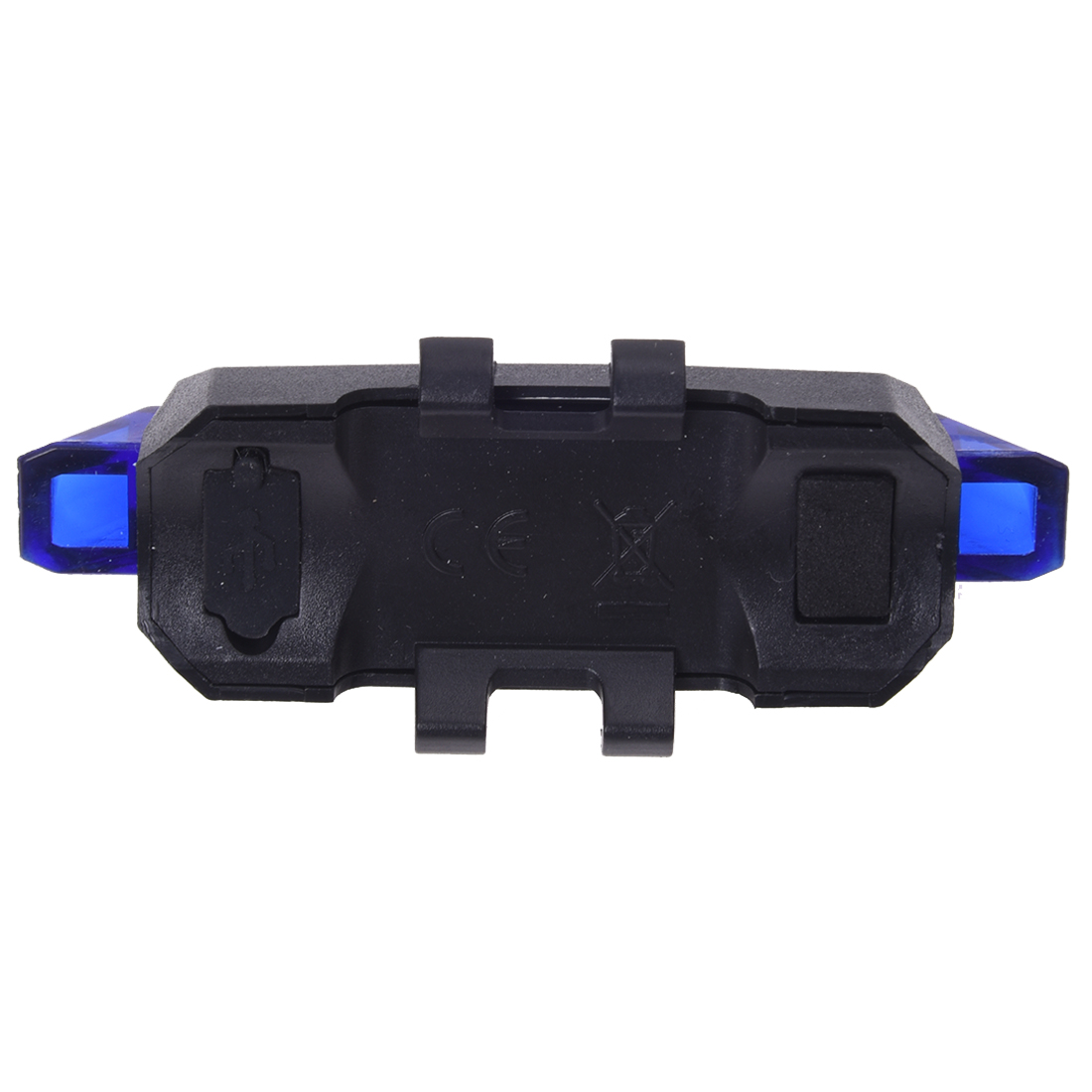 5LED Bicycle Rear Tail Lights Flash USB Rechargeable Bike Safety Lamp Waterproof, Black+Blue