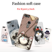 "2pcs For Lenovo K320t Case cover cute cartoon painted Soft Phone Cases For Lenovo K320 t case back cover K 320t case shell 5.7"""