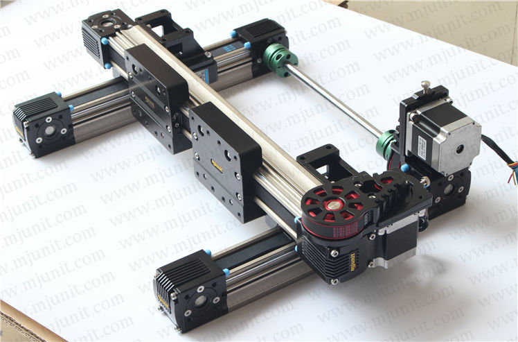 three-axis or X-Y-Z stage linear stages belt drive linear rail guideways Slides toothed belt drive motorized stepper motor precision guide rail manufacturer guideway