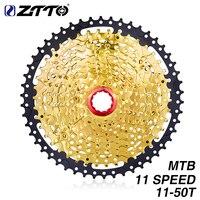 ZTTO 11 Speed Cassette Sprockets Gold Steel 11 50T Wide Ratio Freewheel MTB Mountain Bike For