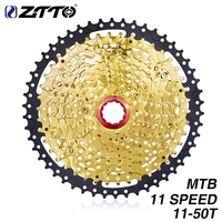 ZTTO 11 Speed Cassette Sprockets Gold Steel 11 50T Wide Ratio Freewheel MTB Mountain Bike For