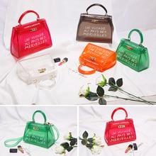 Clear Transparent PVC Shoulder Bags Women Candy Color Women