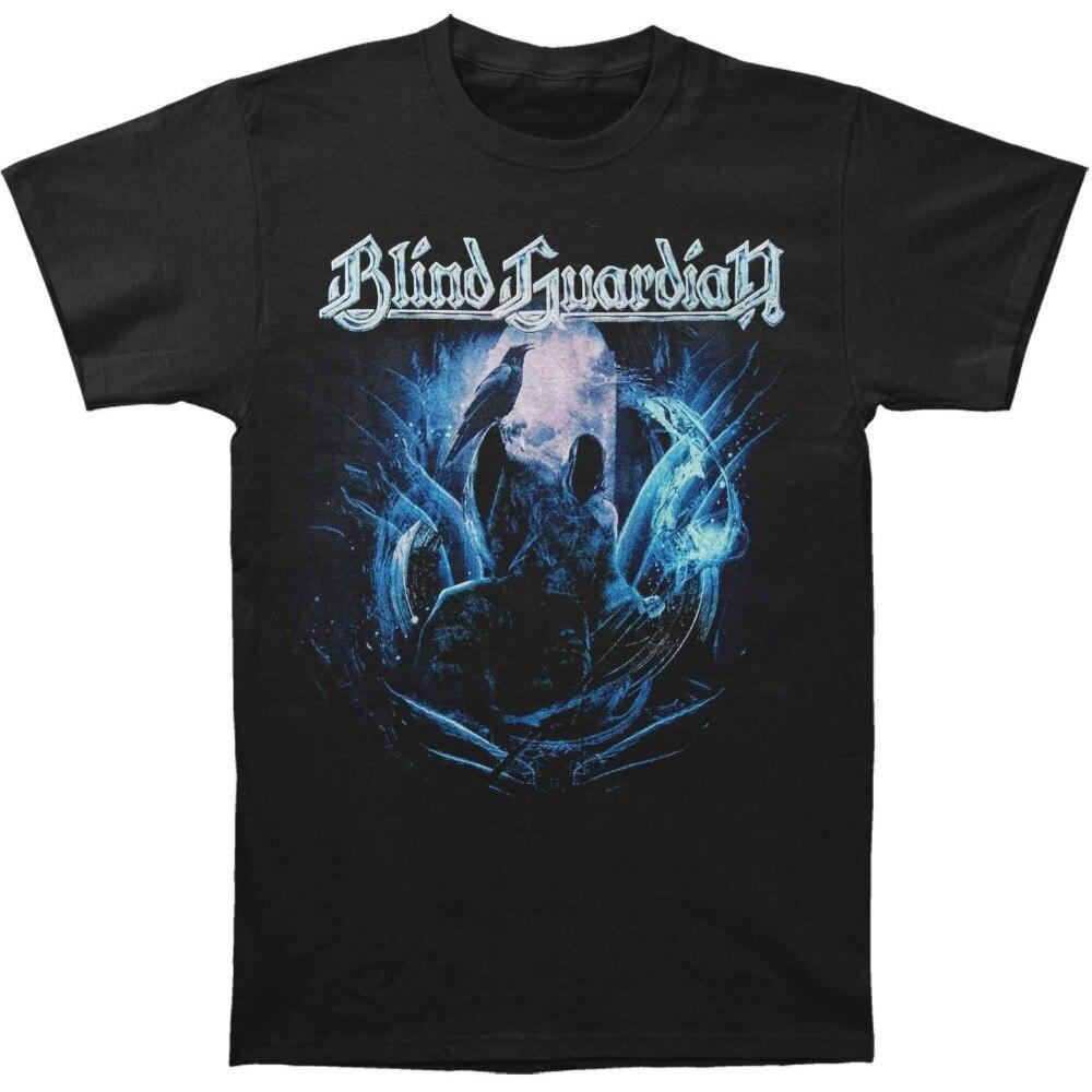 2018 New Summer Men Hot Sale Fashion Blind Guardian Mens Reaper Crow T-shirt Size S To 3XLMen T Shirt 100% Cotton Print Shirts