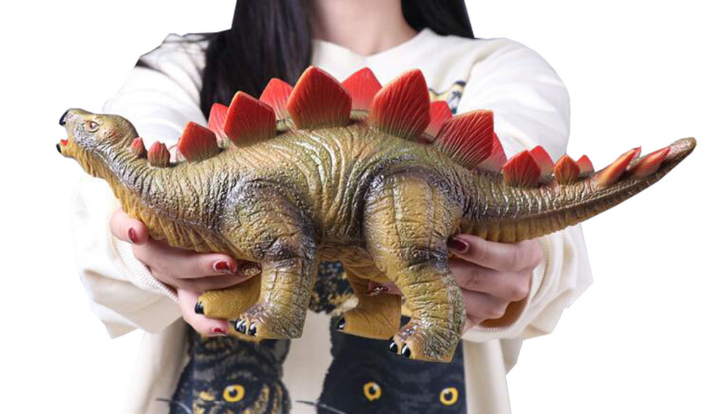 14 Big Dinosaur Toys Kids Realistic Stegosaurus Toy Dinosaur Figures for Kids Toddler Educational Gift and Party decoration