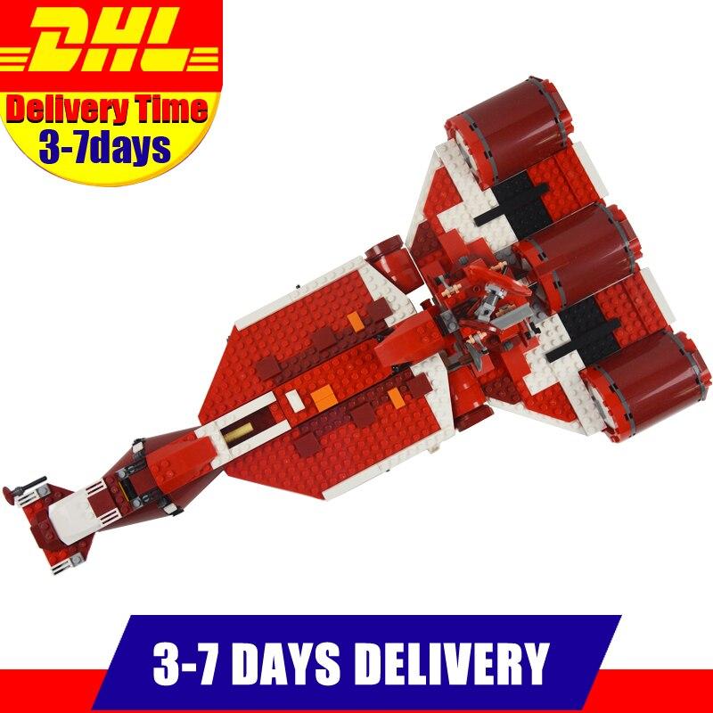 где купить DHL Clone 7665 LEPIN 05070 963Pcs UCS Series The Republic Cruiser Set Children Educational Building Blocks Bricks Toys дешево