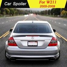 Для Mercedes W211 E300 E320 E240 автомобильный спойлер высокого качества PU материал украшение в виде хвостового крыла для mercedes w211 E класс 2005-2009