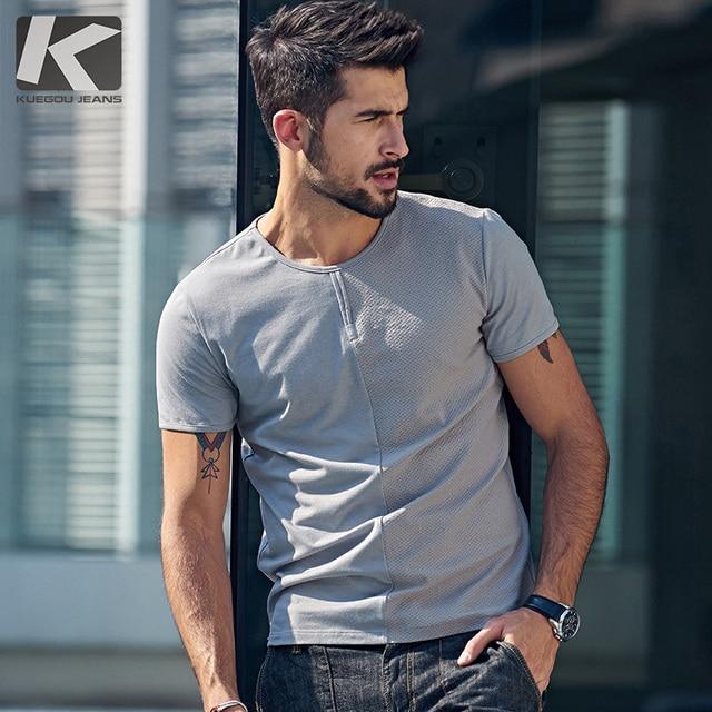 Grande Vendita di Estate Moda Uomo T Shirt Patchwork Bianco Grigio marchio  di Abbigliamento Uomo Manica b78e0ce6eab