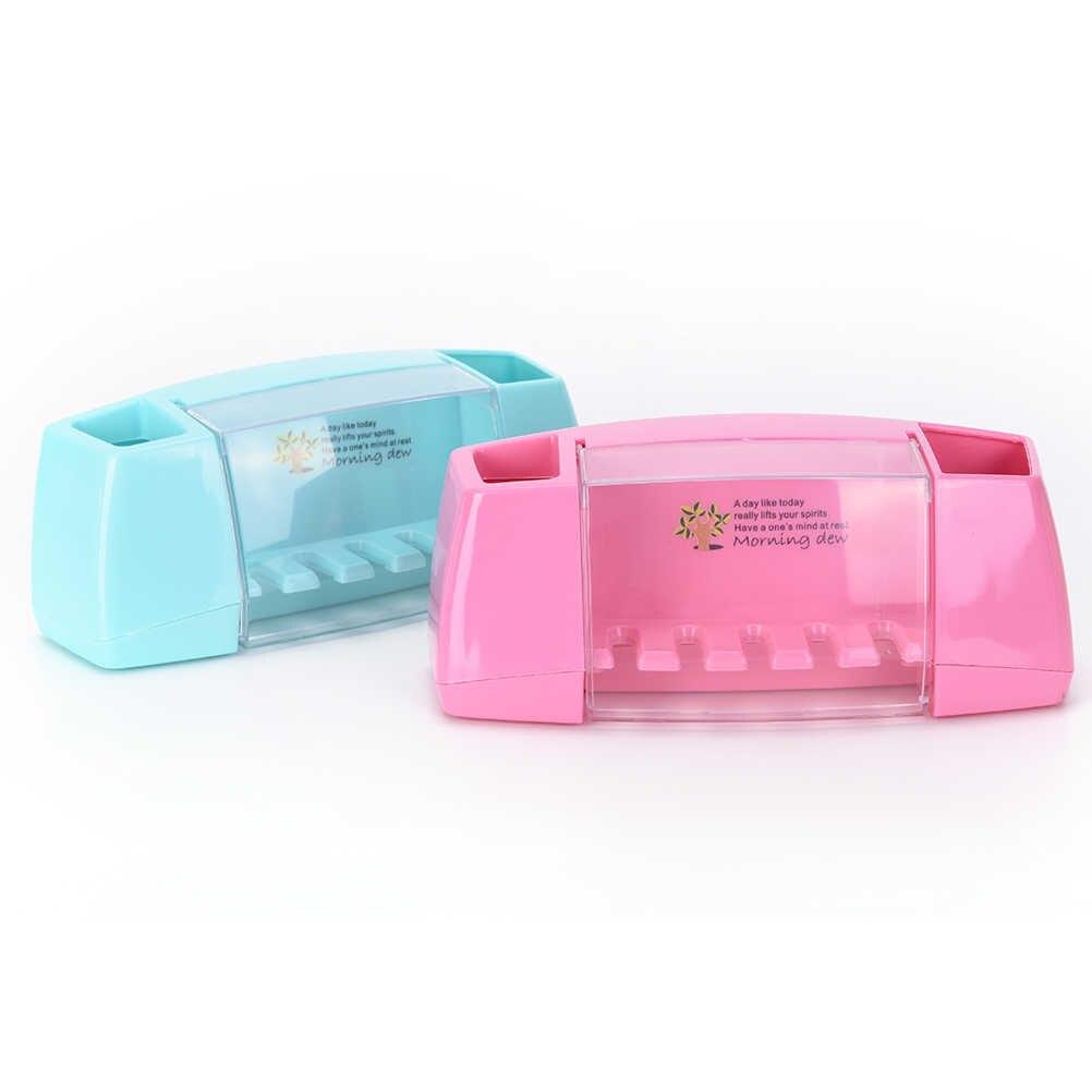 1 sztuk pcv wielofunkcyjny przyssawki szczotka do zębów marki posiadacz uchwyt na szczoteczkę do zębów pudełko do przechowywania akcesoria łazienkowe