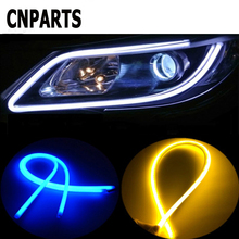 CNPARTS 60 см автомобиля DRL гибкие дневные бег светодио дный светодиодные лампы для Ford Focus 2 3 Fiesta Mondeo Ranger Kuga Seat Leon Ibiza Lexus