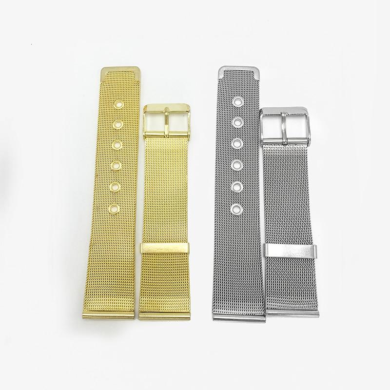 Metallarmband 12mm 20mm Armband 12mm 20mm Goldene Edelstahlgitter Uhrenarmbänder 12MM 20mm 2020 orologio acciaio FZ013