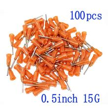 100pcs  Blunt Tip Dispensing Needles Syringe 15Gauge x 0.5 (0.5inch Length) With Luer Lock for Mixing Many Liquid(15Ga)