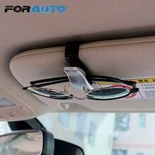 Forauto автомобильный солнцезащитный козырек, очки, солнцезащитные очки для женщин Автомобильный держатель для очков зажим для билетов, карточек крепежа для укладки волос зажим для очков