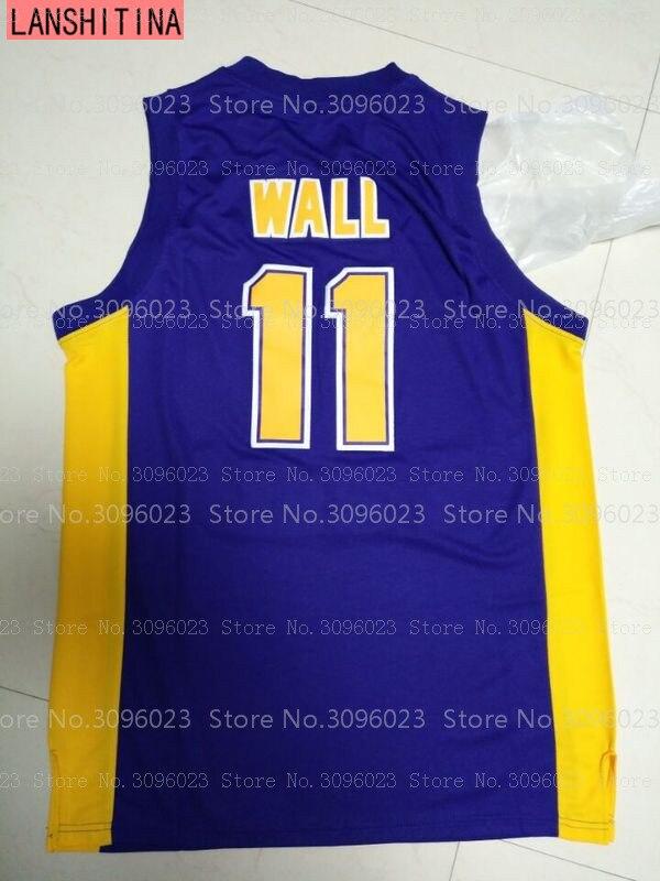 big sale b66c9 66c65 Basketball Jerseys John Wall Jersey #11 Holy Rams High School Stitch Purple  Retro Shirts Cheap Throwback Shirt