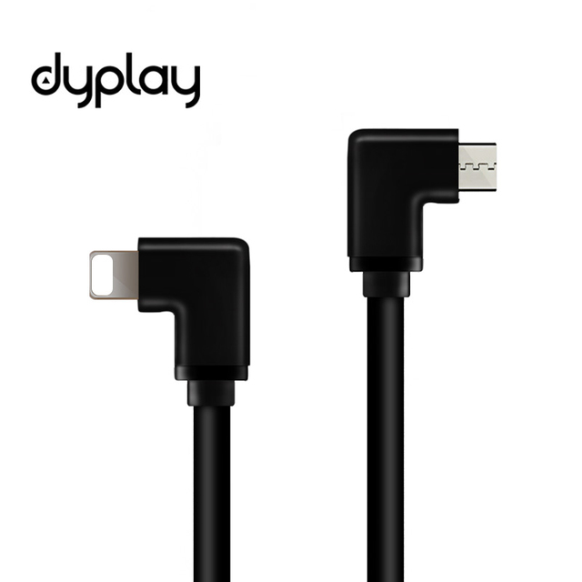 dyplay 90 Degree DAC AMP HiFi OTG Cable for Lightning to Micro USB for iPhone 7 iOS 10-11 with Amplifier Mojo Hugo Sony PHA-1A