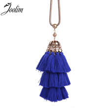 цена на JOOLIM Ethnic Tiered Tassel Pendant Necklace Fashion Jewelry Wholesale Necklace Statement