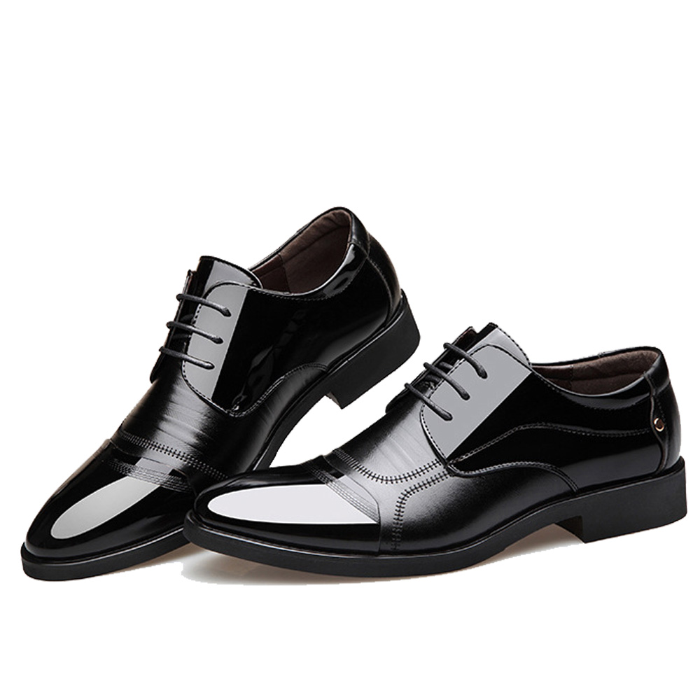 NPEZKGC Fashion lederen mannen Oxford schoenen, Lace Up Casual - Herenschoenen - Foto 3