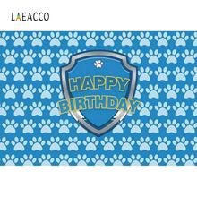 Laeacco Baby Birthday Party Footprint Cartoon Family Shoot Poster Photo Backdrop Photography Backgrounds Photocall Studio
