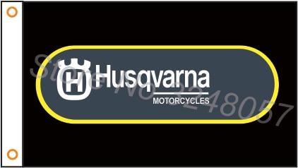 Флаг на заказ, баннер для мотоцикла Husqvarna, мотоциклетный флаг 3x5 футов, полиэстер 06