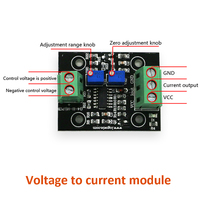 5pcs/lot Voltage to current module 0 5V/10V to 4 20mA Linear Transmitter Board for electronics equipment control