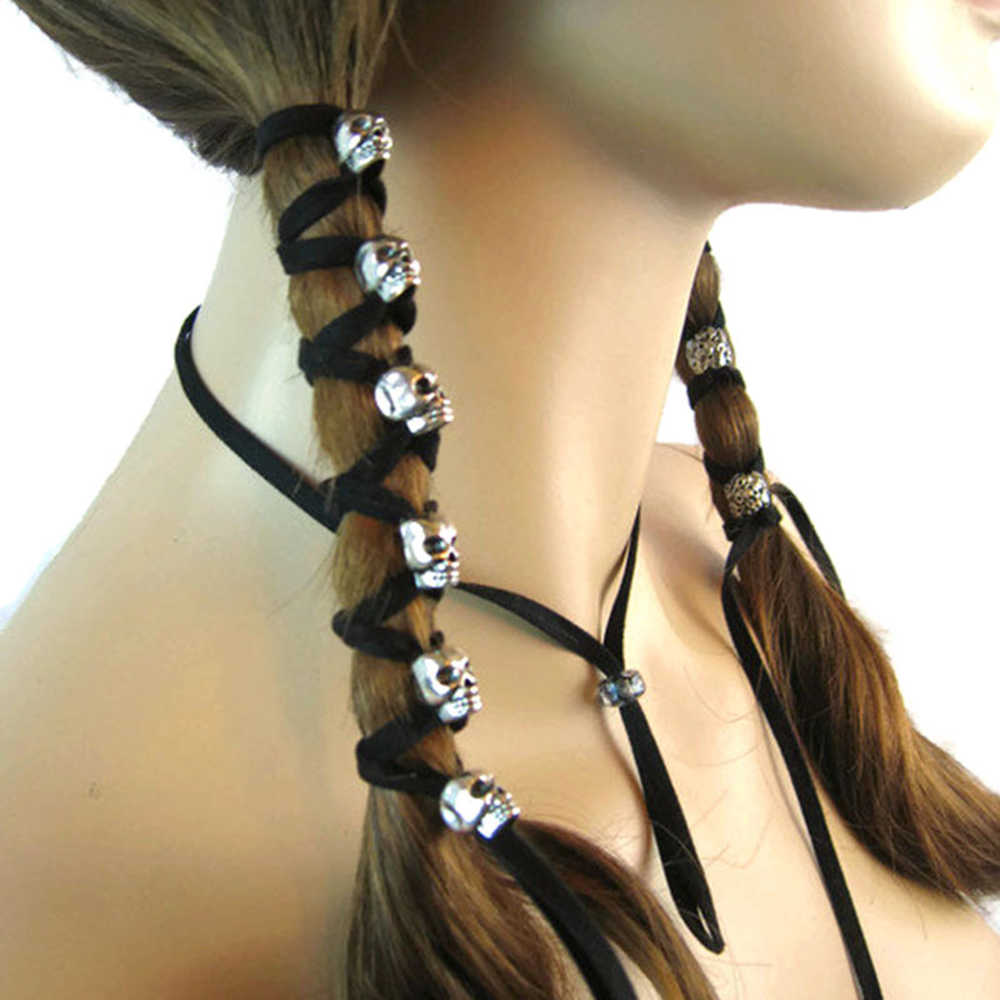 Skull Rope Hair Jewelry