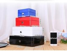Цветная домашняя металлическая безопасная коробка для хранения