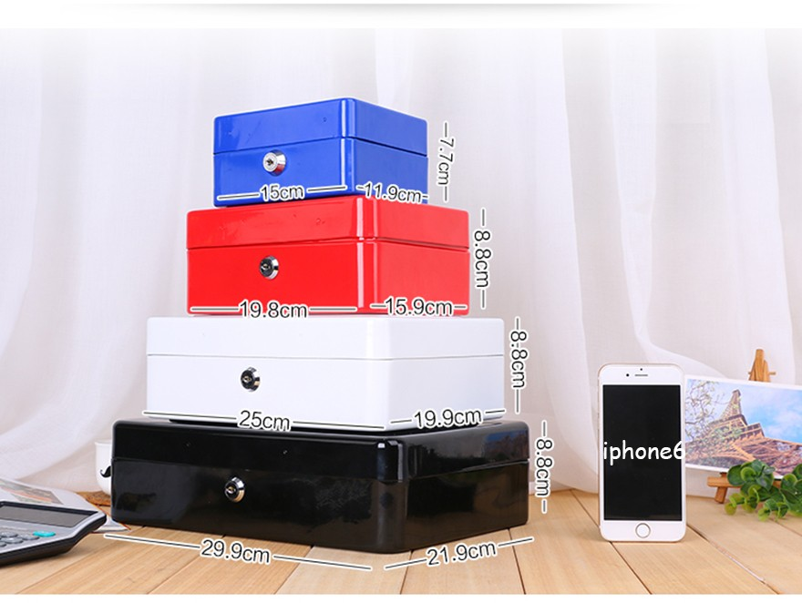 Colors Home Metal Safe Storage Box Money Box Piggy Bank Key Box Case Jewelry Storage Locker Secret Savings Box With Key Lock S