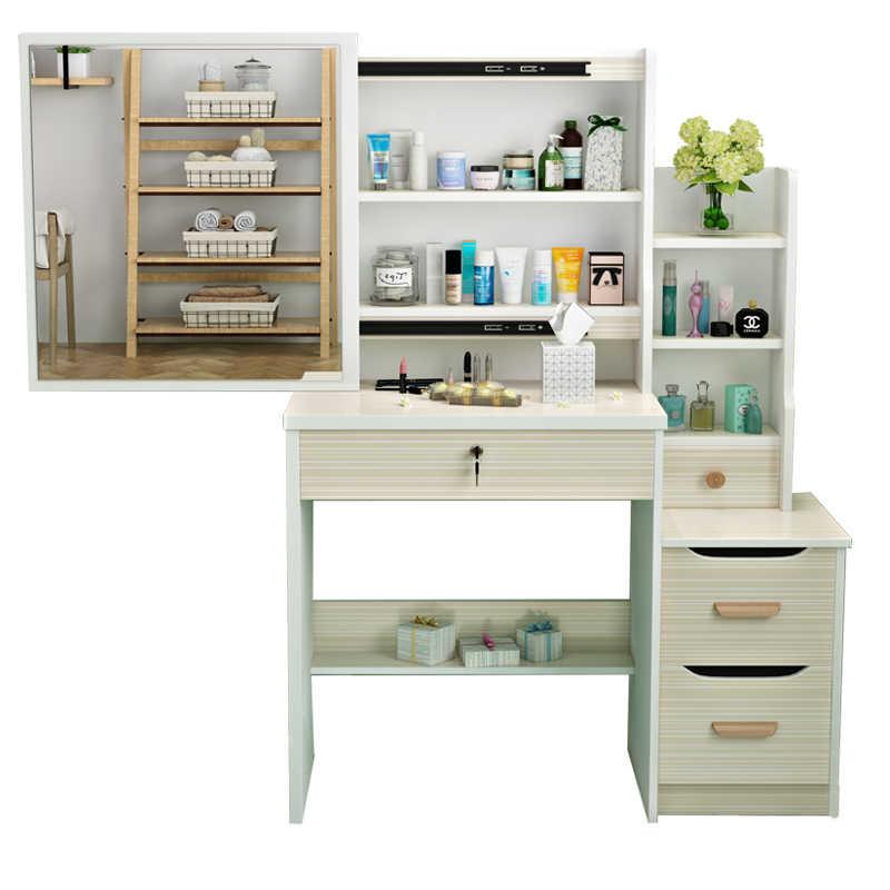 Miraculous Mdf Vanity Table Makeup Box Comoda Para Coiffeuse Avec Miroir Set Wooden Quarto Penteadeira Korean Bedroom Furniture Dresser Interior Design Ideas Inesswwsoteloinfo