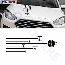 Auto Hood Side Rear Window Or Car Door Decor Sticker Star Wars Tie Fighter Stripes Graphics Vinyl Decals Car Styling