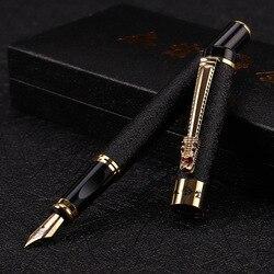 Wysokiej jakości 0.5MM metalowe stalówki pióro wieczne chińskie luksusowe długopisy Caneta prezent biurowe artykuły biurowe w Pióra wieczne od Artykuły biurowe i szkolne na