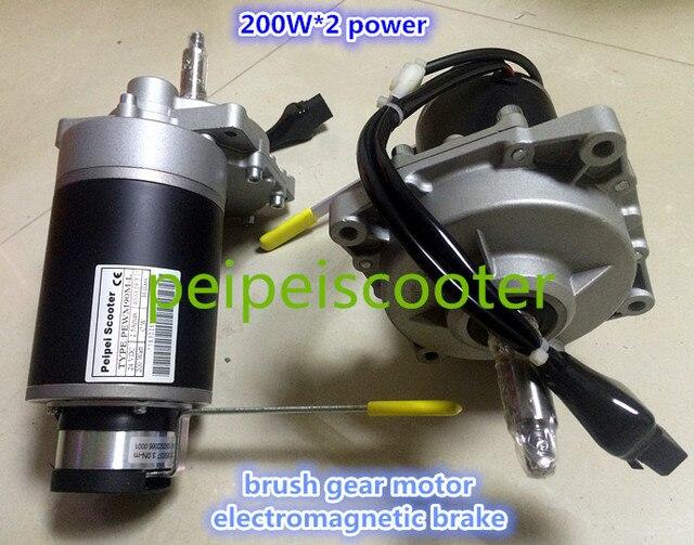 6508db2c38 400 Watt gute qualität gebürstet getriebe elektro-rollstuhl nabenmotor mit  elektromagnetische bremse insgesamt 200 watt