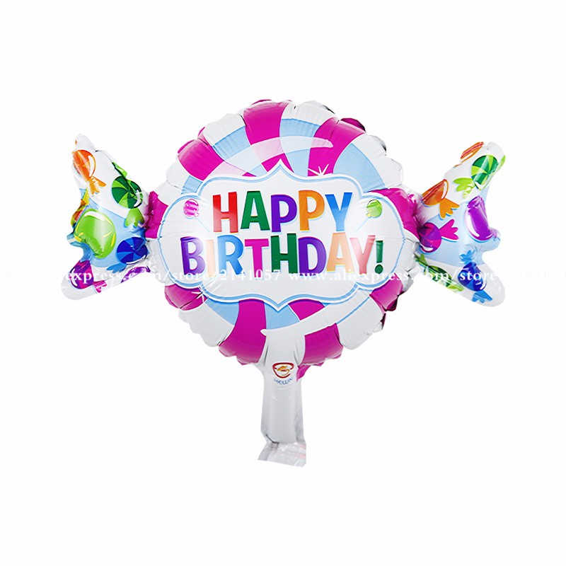 30pcs/lot Anagram Happy Birthday Sweet Shop Foil Balloons Cartoon Design Candy Balloon Kids Birthday Party Supplies