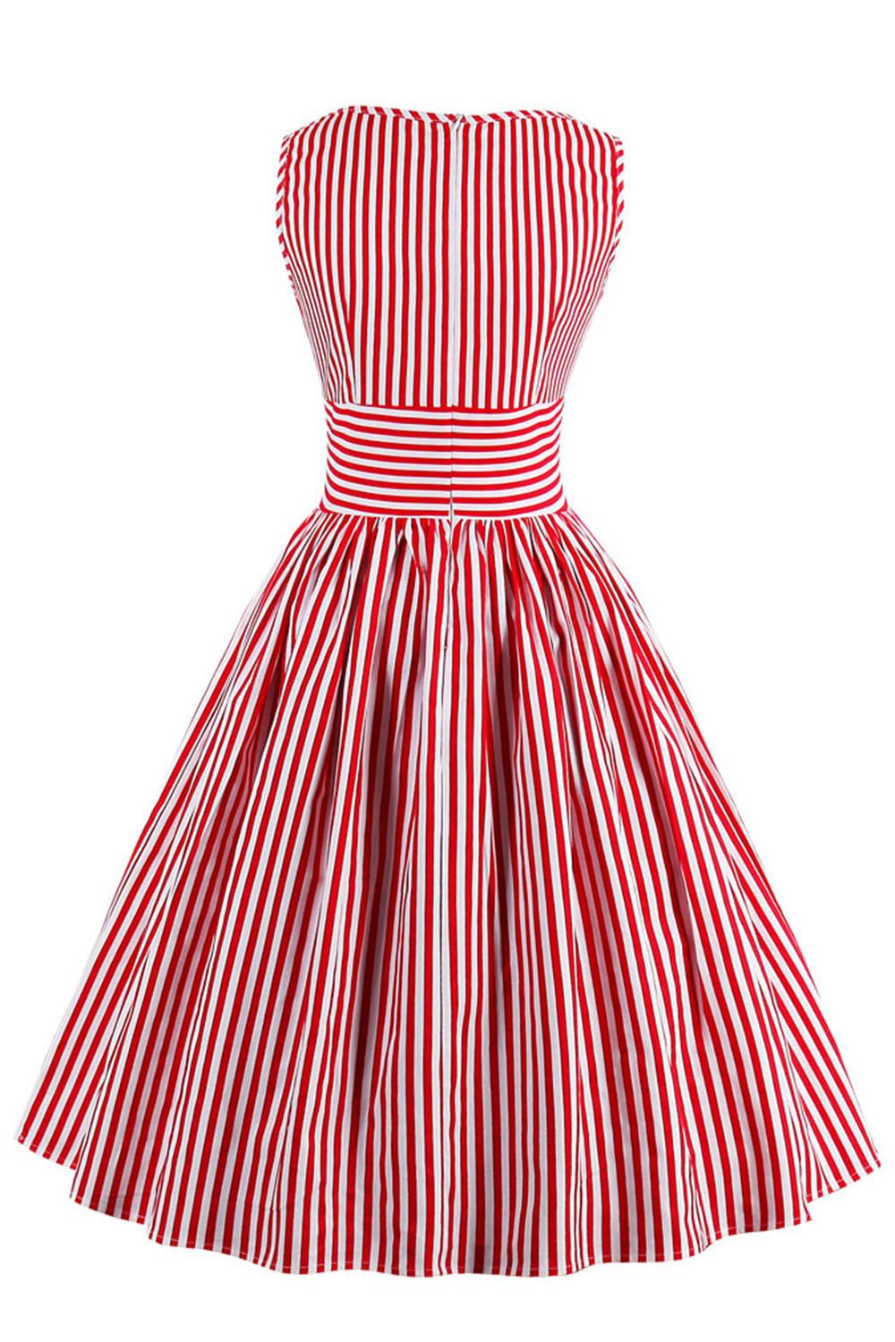 MisShow 2017 Summer Women Dress Retro Stripe Audrey Hepburn 50s 60s Vintage  Robe Rockabilly Casual Vestidos Striped-in Dresses from Women s Clothing on  ... 1a0f8487ec55