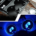 "2 pieces/lot LED ""R"" Cup Coaster for Volkswagen VW Golf 6 GTI Scirocco passat B6 Touran Tiguan Jetta MK4 MK5 MK6 POLO CC"