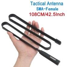 108CM Lange 5,0 dBi Taktische Antenne SMA F SMA Weibliche Dual Band VHF/UHF Antenne Für Baofeng UV 5R UV 82 walkie Talkie Ham Radio