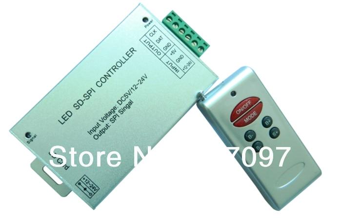 Cartão SD LEVOU Controlador de 6 teclas controlador SD tarjeta inalambrica SPI RF 6 Teclas UCS1903 TM1804 WS2811 LPD6803 LPD8806 opcional