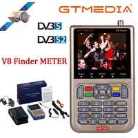 GT MEDIA/Freesat V8 Finder Meter DVB-S2/S2X Digital Satellite Finder High Definition Sat Finder Satelliten Meter Satfinder 1080P