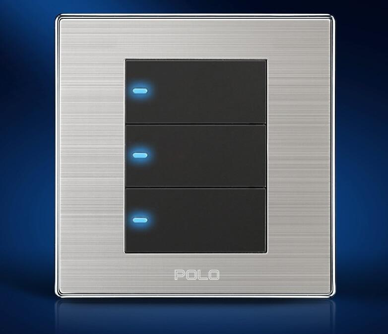 Wholesale Polo Luxury Wall Switch Panel Light Switch 3