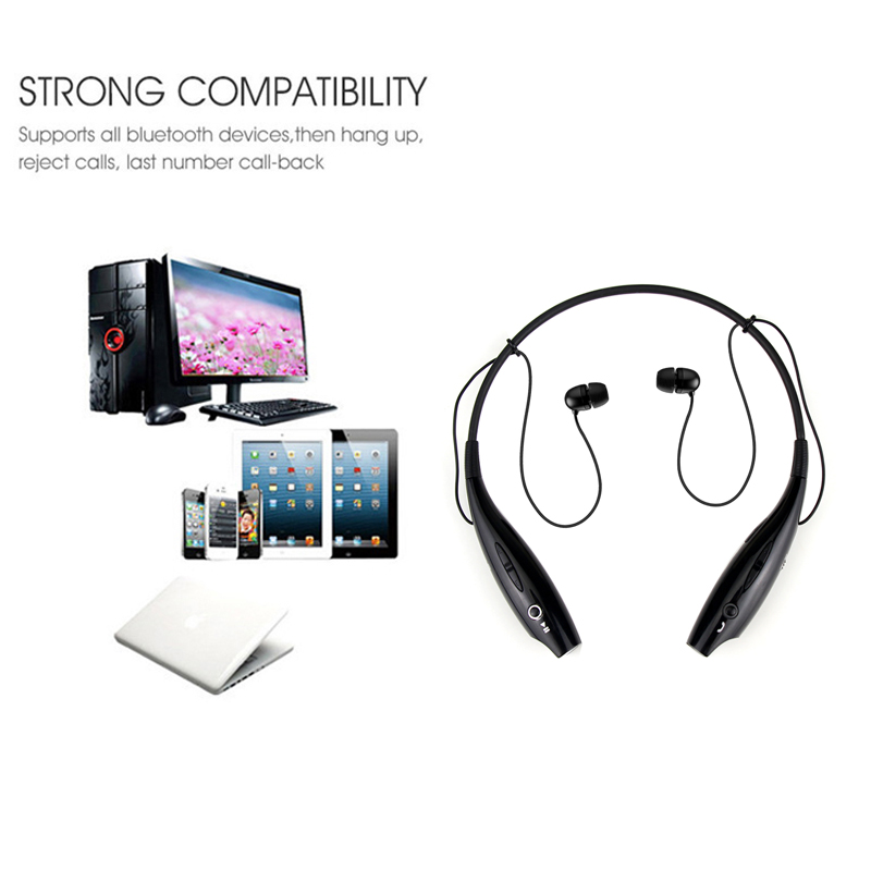 Auricolare Bluetooth Stereo Senza Fili Cuffia Neckband Style Auricolari per  iPhone HTC Nokia Samsung Cellulare Bluetooth in Auricolare Bluetooth Stereo  ... 50b19349396b