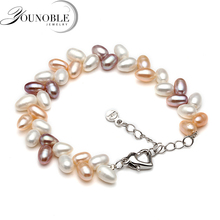 Fashion beautiful natural freshwater bracelet pearl for women,anniversary gift adjustable with