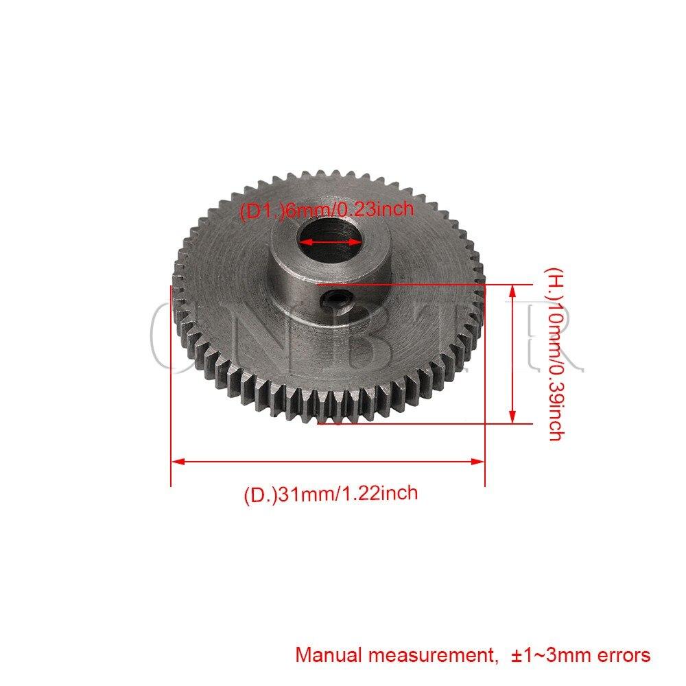 CNBTR 31x10MM Silver 60 Teeth Motor Metal 45 Steel Gear Wheel 0 5 Modulus Top Screws in Gears from Home Improvement