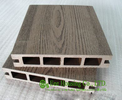 Wood Plastic Composite Flooring Outdoor WPC Decking For Balcony Easy Installation And Environmental Friendly