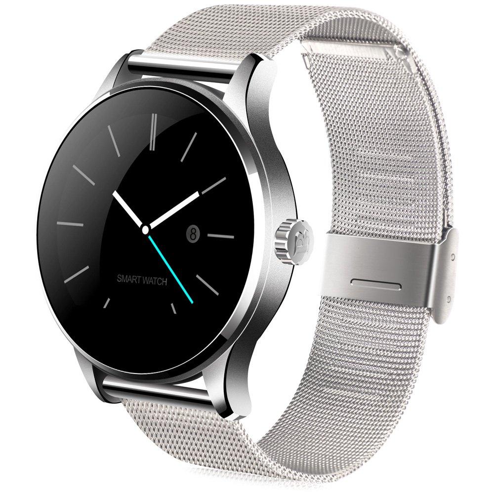 Prix pour K88H Smart Watch 1.22 Pouces IPS Écran Rond Soutien Sport Moniteur de Fréquence Cardiaque Bluetooth SmartWatch Pour Apple Huawei IOS Android
