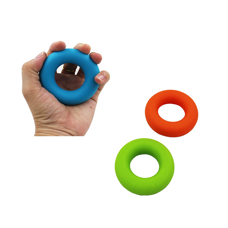Strength Finger Hand Grip Muscle Power Training Squeeze Toy Rubber Ring Exerciser Silicone Palm Circle Fitness Stress Relief Toy