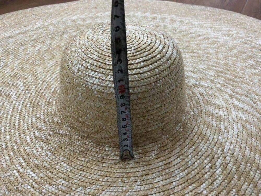 Pré-vente, s'il vous plaît prolonger le délai de livraison à la main 45 cm bord de mariage chapeau de soleil femmes loisirs chapeau prendre photo - 5