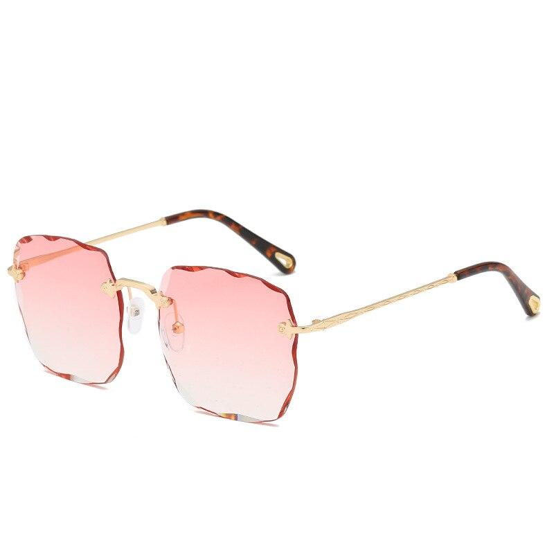 Acheter Benesse lunettes de Soleil pour femmes 2018 lunettes de soleil Sans  Monture WomenSquare lunettes de soleil femmes lunettes de soleil marque  designer ... c5af6cdb3261