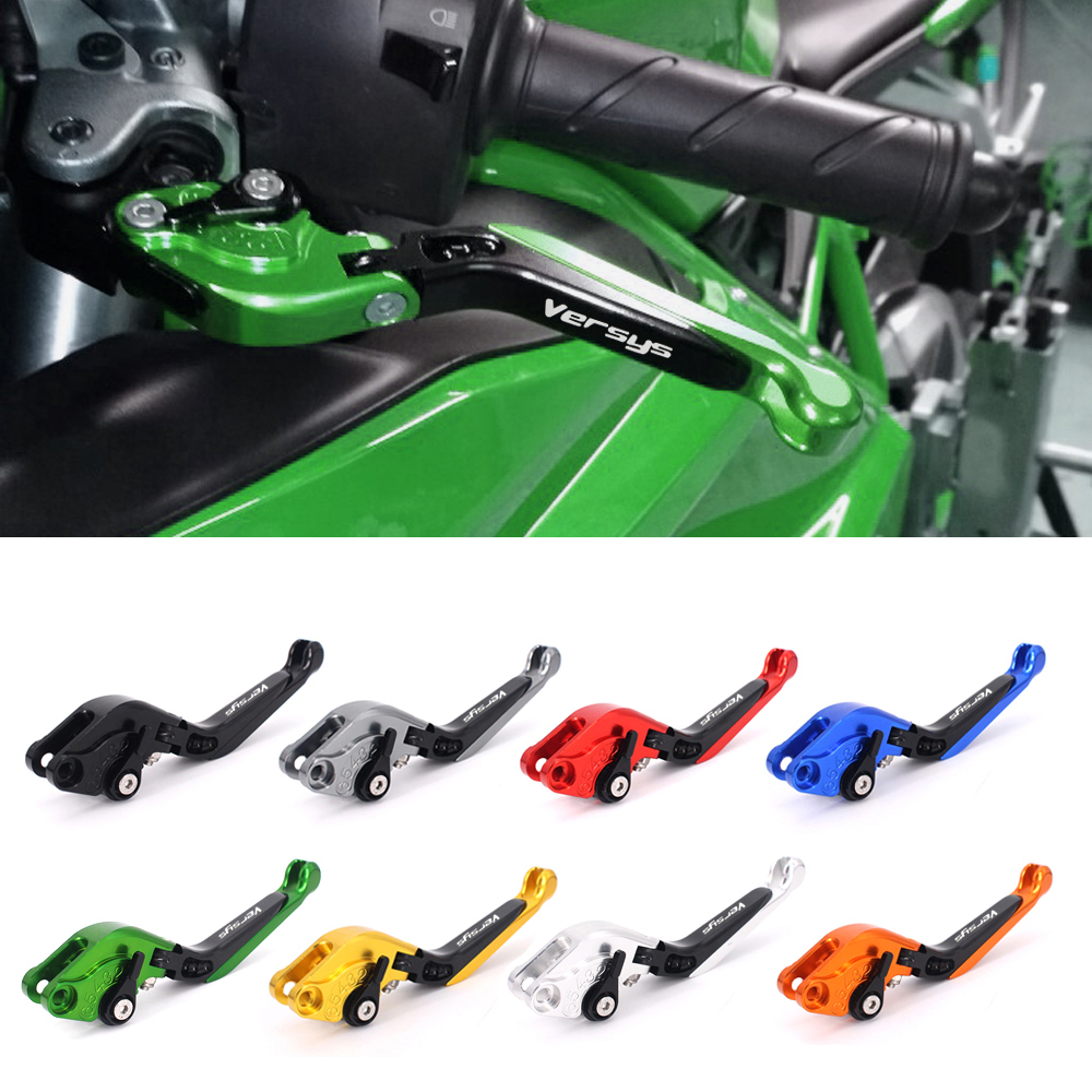 Motorcycle Adjustable CNC Aluminum Brakes Clutch Levers For KAWASAKI Versys (650cc) 2009 2010 2011 2012 2013 2014 motorcycle adjustable foldable brakes clutch levers and handelbar girps for kawasaki z1000 2011 2016 2012 2013 2014 2015