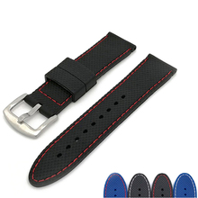MJeess Generic Watchband Silicone Rubber Watch Strap Bands Waterproof 18mm 20mm 22mm 24mm Watches Belt Bracelet Accessories dark blue black watchband strap 20mm 22mm 23mm rubber bracelet belt waterproof soft meterial for brand men watches